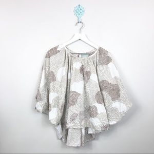 Maeve by Anthropology Poncho Top Size Medium
